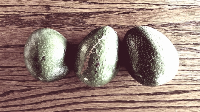 Three Avocados